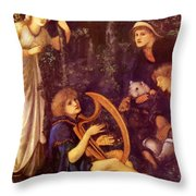 The Madness Of Sir Tristram Throw Pillow
