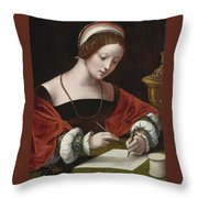 The Magdalene Writing A Letter Throw Pillow