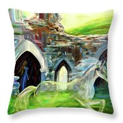 The Magic And Majesty Of Corfe Castle Throw Pillow