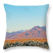 The Magic Light Of Taos  Throw Pillow