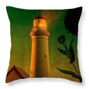 The Magic Lighthouse Throw Pillow