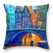 The Magic Of Amsterdam Throw Pillow