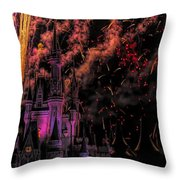The Magic Of Disney Throw Pillow