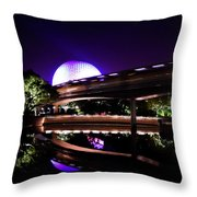 The Magic Of Epcot Throw Pillow