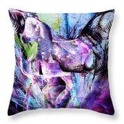 The Magic Of Horses Throw Pillow