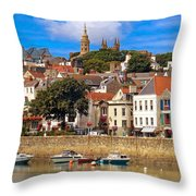 The Magic Of St. Peter Port In Guernsey Throw Pillow