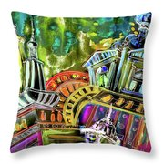The Magical Rooftops Of Prague 02 Throw Pillow by Miki De Goodaboom