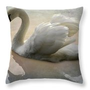 The Magical Swan  Throw Pillow