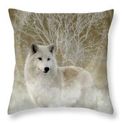The Magical Wolf Throw Pillow