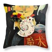 The Magician Throw Pillow
