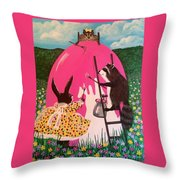 The Magnificent Easter Egg Throw Pillow