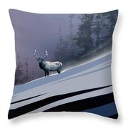 The Magnificent Elk Throw Pillow