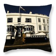 The Magpie Cafe Throw Pillow