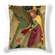 The Magus Hermogenes Casting His Magic Books Into The Water Throw Pillow