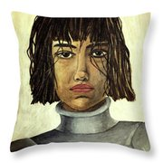 The Maid Of Orleans Throw Pillow