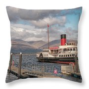 The Maid Of The Loch Throw Pillow