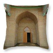 the main entrance, doorway, door, Asia Throw Pillow