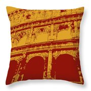 The Majestic Colosseum Of Rome Throw Pillow