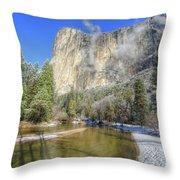 The Majestic El Capitan Yosemite National Park Throw Pillow