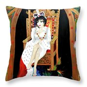 The Majestic Joan Collins D B E Throw Pillow