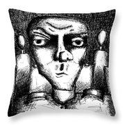 The Making Of A Soldier Throw Pillow