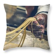 The Making Of Pasta Throw Pillow