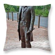 The Man Behind Monticello Throw Pillow