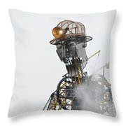 The Man Engine And His Man Throw Pillow