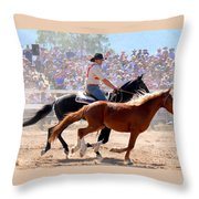 The Man From Snowy River Throw Pillow