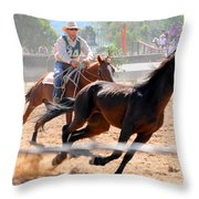 The Man From Snowy River Winner Throw Pillow