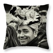 The Man In The Dragon Hat Throw Pillow