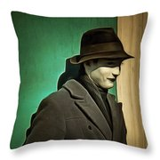 The Man In The Hat Throw Pillow