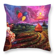 The Man In The Tent Throw Pillow