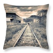 The Man On The Tracks Throw Pillow