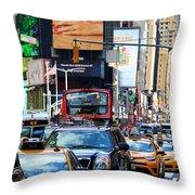 The Manhattan Morning Throw Pillow