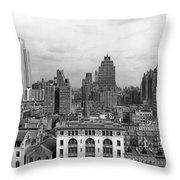The Manhattan Skyline Throw Pillow