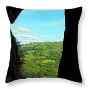 The Manifold Valley From Thor's Cave Throw Pillow