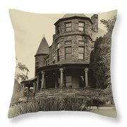 The Manor House Throw Pillow