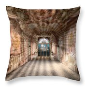 The Manor House With The Two Knights Hall Throw Pillow