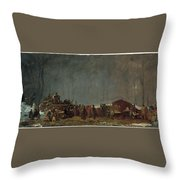 The Maple Sugar Camp Turning Off Throw Pillow