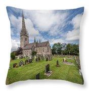 The Marble Church Throw Pillow
