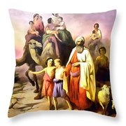 The March Of Abraham Throw Pillow
