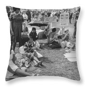 The March On Washington   At Washington Monument Grounds Throw Pillow