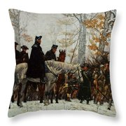 The March To Valley Forge, Dec 19, 1777 Throw Pillow