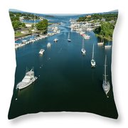 The Marina In Mamaroneck Throw Pillow