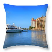 The Marina Sarasota Fl Throw Pillow