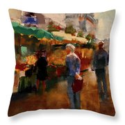 The Market Throw Pillow