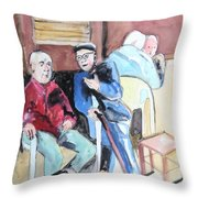 The Market Parliament Throw Pillow