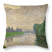 The Marne At Dawn Throw Pillow