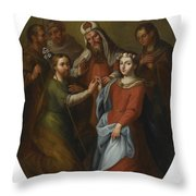 The Marriage Of The Virgin Throw Pillow